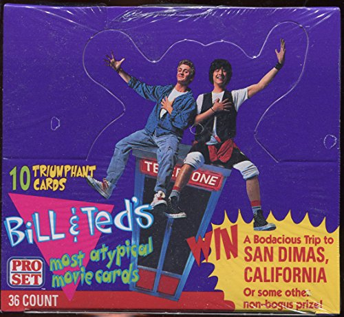 Bill-Teds-Most-Atypical-Movie-Card-Box-1991-Pro-Set-w-36-Packs