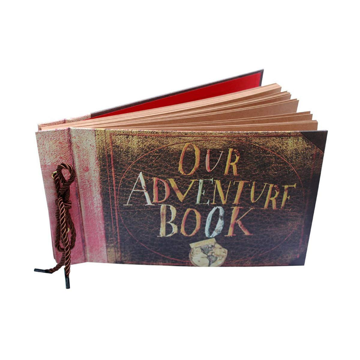 ThxMadam Scrapbooking Foto Album Our Adventure Book Memoria Libro degli Ospiti di Nozze con 80 Pagine per San Valentino Mamma Giorno Anniversario Compleanno Natale Regalo per Figlia Moglie Madre, Our Adventure Book(carta Kraft)