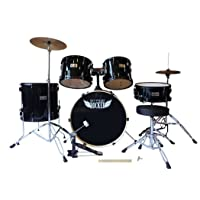Deals on Stage Rocker 5pc Drum Set with Double-Braced Hardware