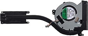 Z-one Fan Heatsink Replacement for Dell Latitude E7250 E7450 Series CPU Cooling Fan Heatsink DP/N 04T1K3 0J3M4Y 4-Wires