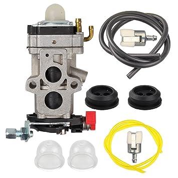 616XxJGMokL._SY355_ amazon com butom wya 155 carburetor with fuel line tune up kit for