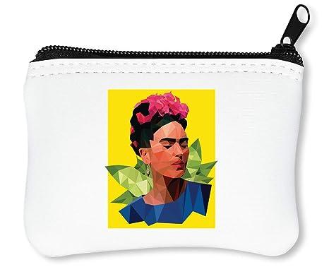 Frida Kahlo Triangle Billetera con Cremallera Monedero Caratera