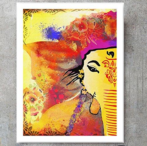 Amazon Com Ganesha Art Abstract Painting Ganesha Wall Art