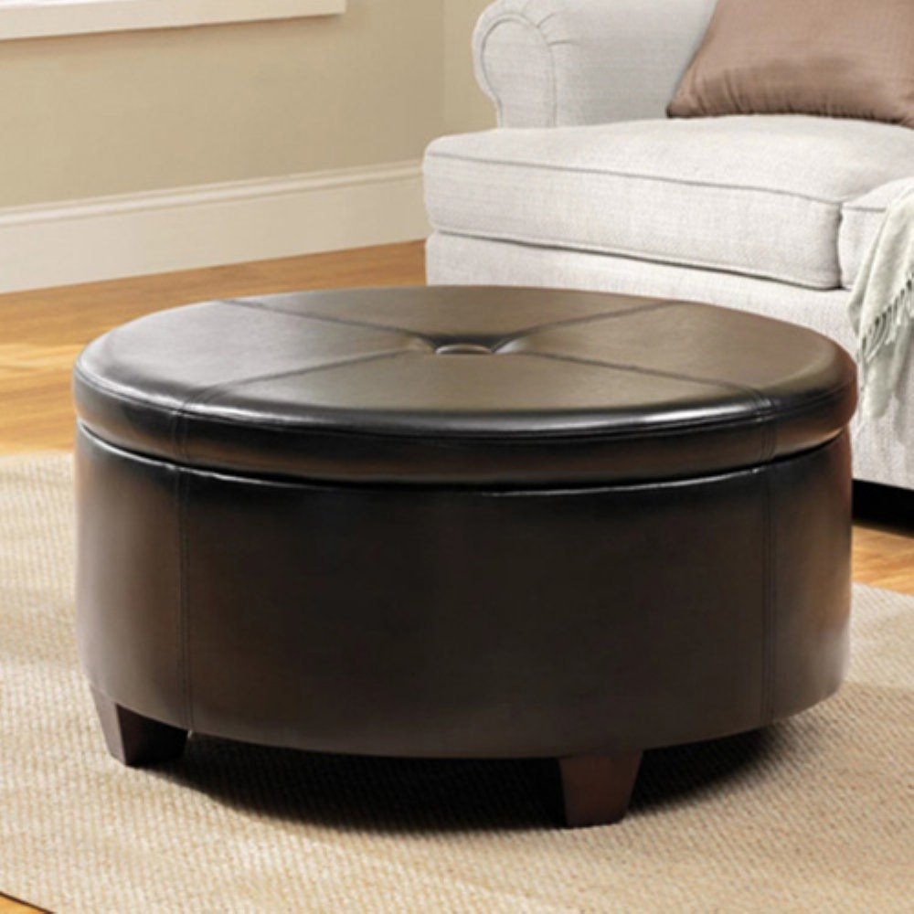 Large Black Storage Ottoman The Most Stylish Leather Storage Ottoman Benches For The Living