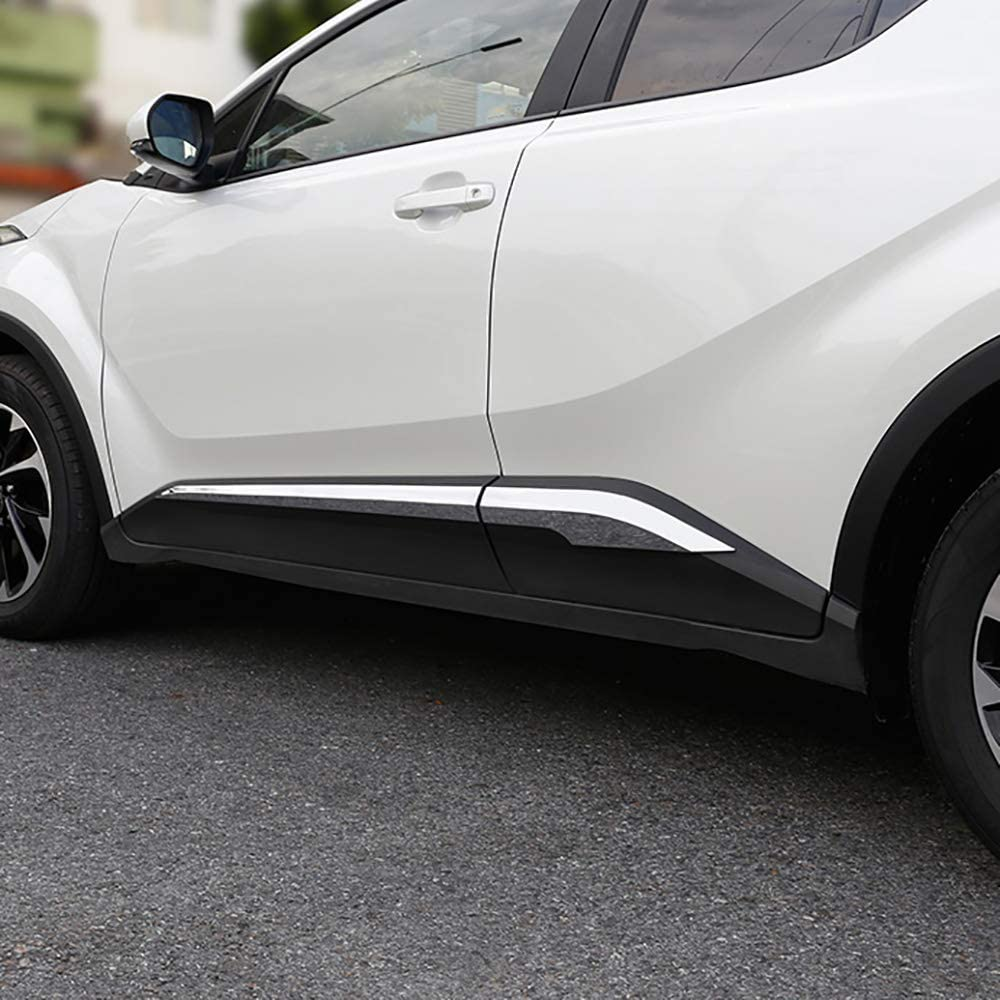 Kadore ABS Chrome Door Body Side Molding Trim Cover for Toyota C-HR CHR 2016 2017 2018 4PCS//Set
