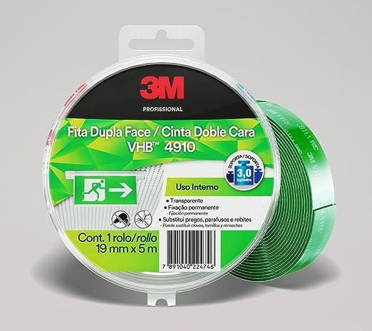 Fita Dupla-face de Adesivo Transferível Vhb 4910 Transparente 12mmx20m   Amazon.com.br  Ferramentas e Construção 78cb588388