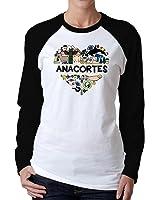 Idakoos - I love Anacortes, Washington - Usa States - Women Raglan Long Sleeve T-Shirt
