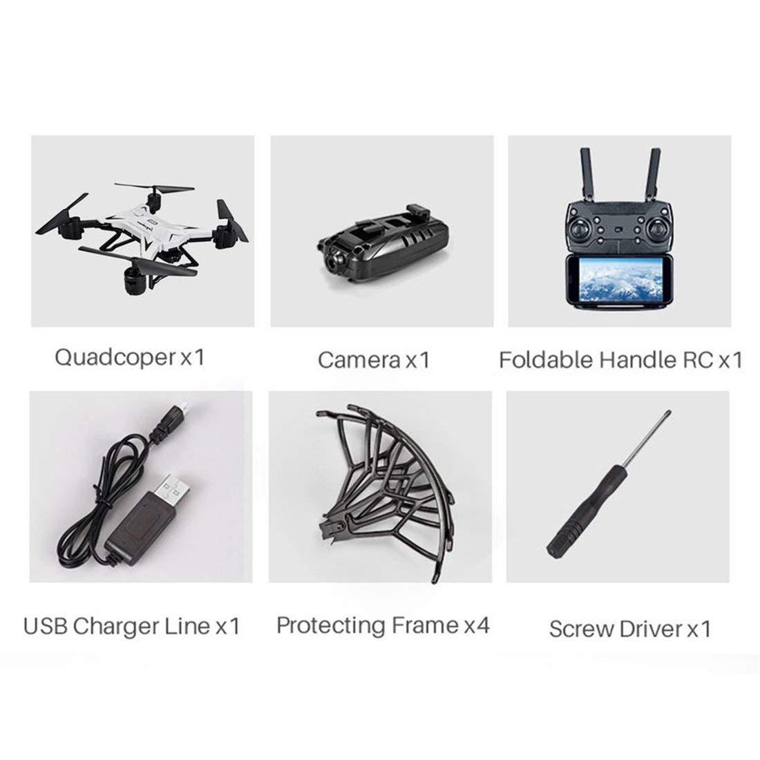 Formulaone KY601S RC Drohne mit 30W Kamera Schwerkraftgefühl FPV Quadcopter 20 Minuten Spielzeit DREI Batterieversion Drone Toys - Weiß