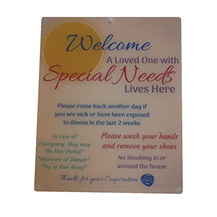6453dd4095fc Amazon.com: Rolling Buddies Special Needs Child Door Sign - Orange ...