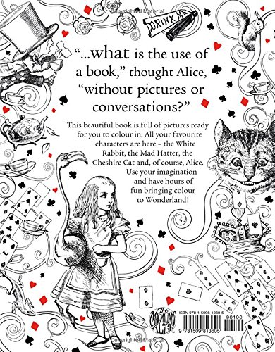 the macmillan alice colouring book macmillan classic colouring books lewis carroll 9781509813605 amazoncom books