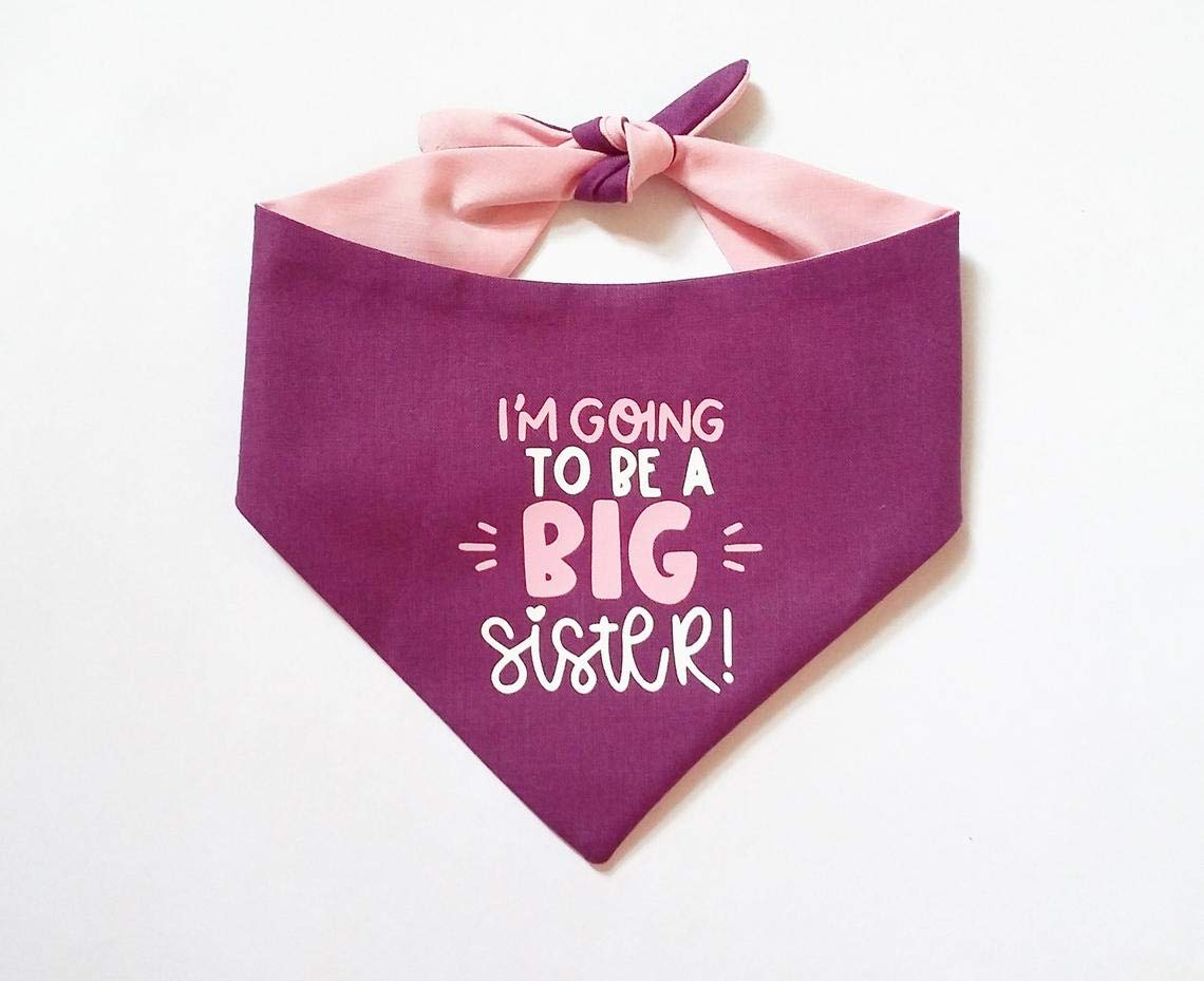 Pregnancy Announcement Dog Bandana Im Going to be a Big Sister Brother Baby Shower Gift