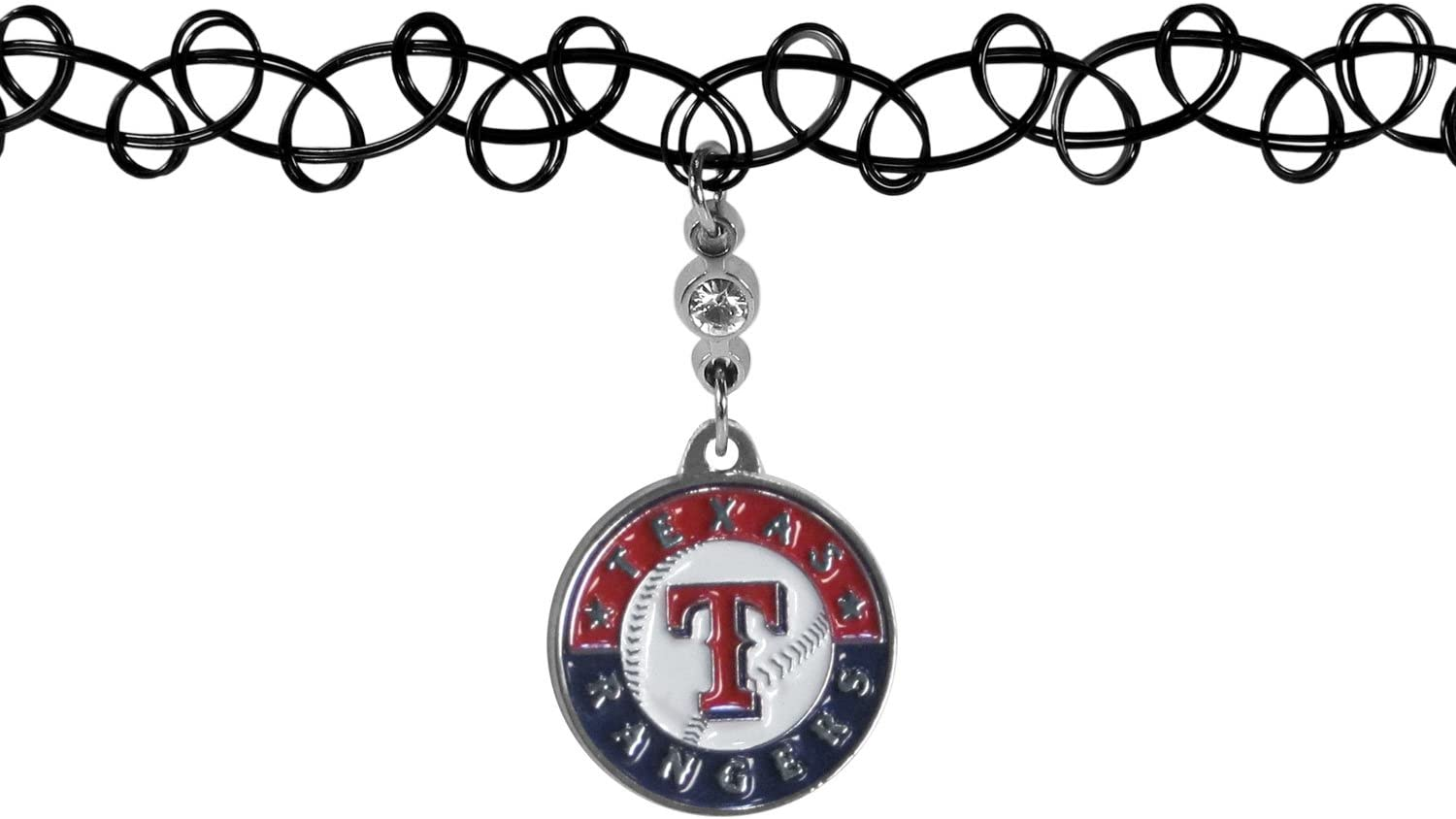 Amazon Com Mlb Texas Rangers Necklace Knotted Choker Team Colors One Size Sports Outdoors