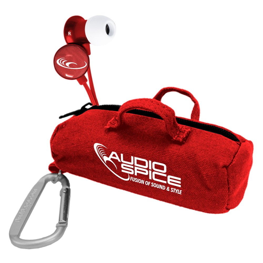 AudioSpice Wired Headset for Universal Smartphones - Retail Packaging - Red