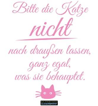 CLICKANDPRINT Aufkleber » Bitte Die Katze Nicht Nach Draußen Lassen...,  150x37,