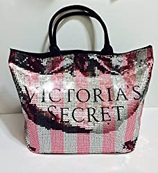 Limited Edition Striped Sequin Large Tote Bag