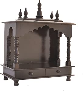 Mereappne Wooden Pooja Mandir |Indian| |Hindu| |Decoration| |Puja| |Cabinet| |Temple| |Bhagwan| |Stand| |Mandapam| |Wall| |Hanging| Decor For Home In Usa
