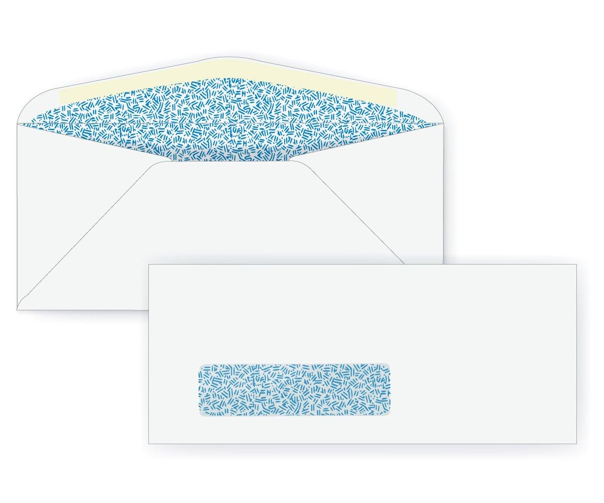 #8 5/8 Window Envelope - Blue Inside Tint - 24# White (3 5/8 x 8 5/8) - Window Envelope Series (Box of 500)