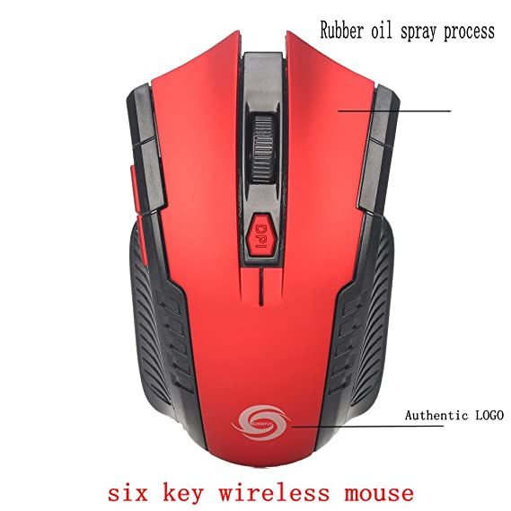 Amazon.com: 2.4Ghz Mini Wireless Optical Gaming Mouse Mice& USB Receiver for PC Laptop Under 4 Dollar: Computers & Accessories
