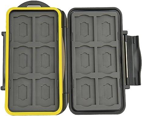 JJC MC-SDMSD24 - Caja de Tarjetas de Memoria (12 x SD, 12 x Micro SD, a Prueba de Agua), Color Negro: Amazon.es: Informática