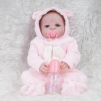 JZM Bebé Recién Nacido Muñeca,22 Pulgadas 57Cm Cuerpo ...