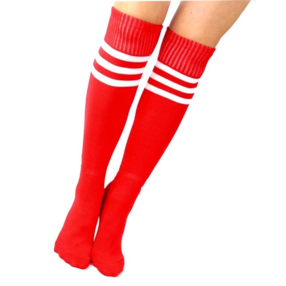 Kids Soccer Socks 4 Pack Boys Girls Cotton Team Socks Teens Children Soccer Socks Shoe size 8-13 and Ages 4-7, Rainbow1