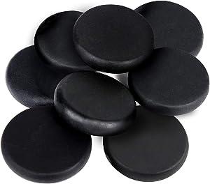 "Basalt Massage Stones - 8 Large Basalt Massage Rocks for Hot Rock Massages, 3.15"" Inch Round Hot Stones for Massage, Essential Spa Massage Supplies"