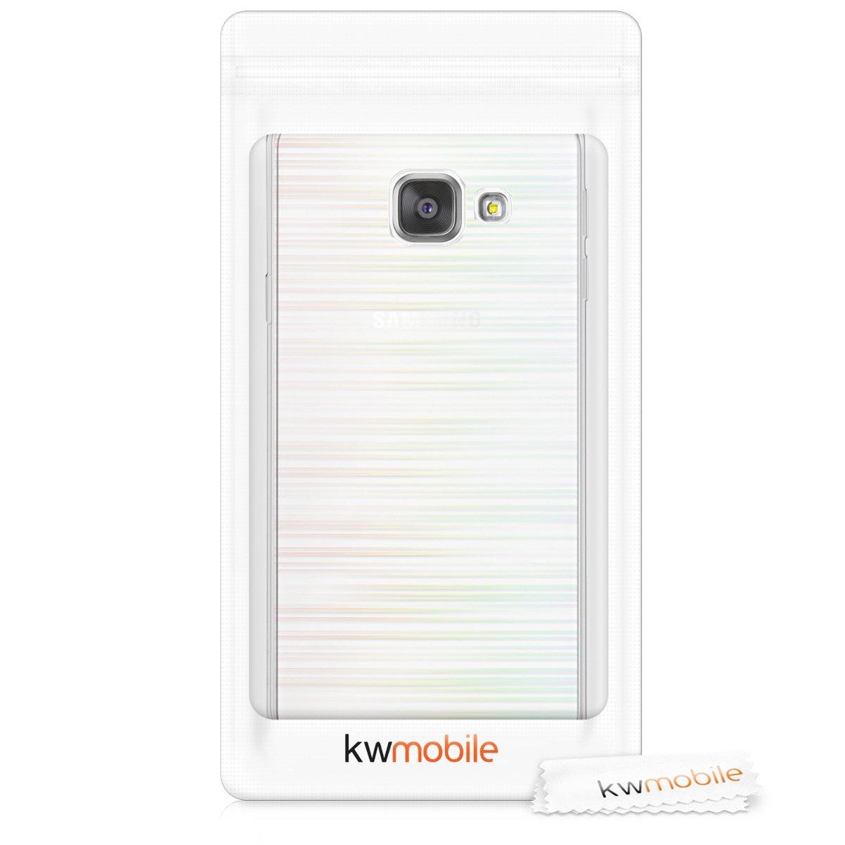 - Housse de t/él/éphone en Silicone Noir-Transparent - Coque pour Samsung Galaxy A3 kwmobile Coque Samsung Galaxy A3 2016 2016