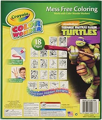 Amazon.com: Crayola Color Wonder Coloring Pad, Teenage ...