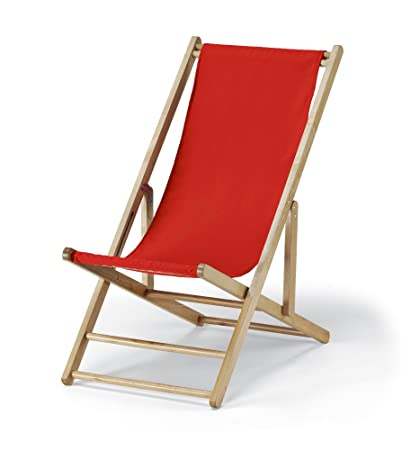 Telescope Casual Cabana Beach Folding Chair, Red