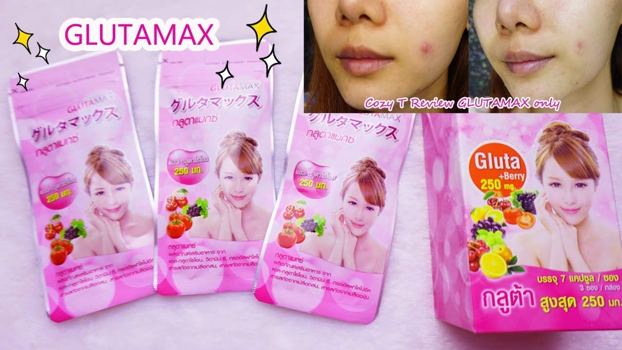 Glutamax Dietary Supplement 3 Sachet Box (1Sachet = 7capsules )Helps to revitalize and nourish skin With natural extracts by Gluta Max