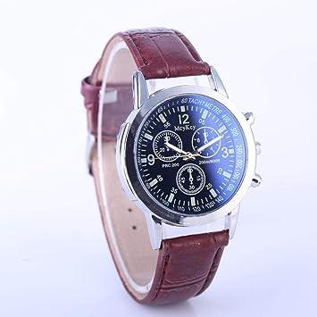 gotd reloj de pulsera para mujer correa de cuero banda de cuarzo de los hombres Casual analógico al por mayor de moda de lujo Casual Sport: Amazon.es: Hogar