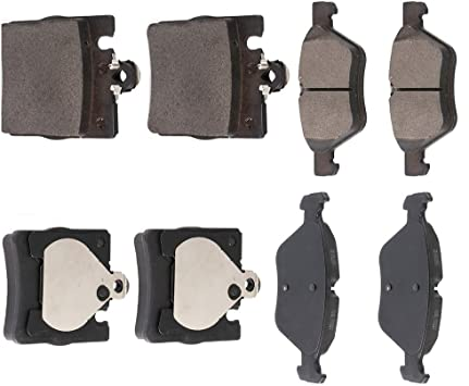 Front and Rear Brake Ceramic Pads For 2000-2003 Mercedes-Benz CLK320 Performance