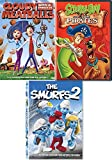 Kids Cartoon DVD pack Scooby-Doo & The Pirates / Cloudy with A chance of Meatballs / The Smurfs 2 bundle Animated Collection 3 Kids Favorites