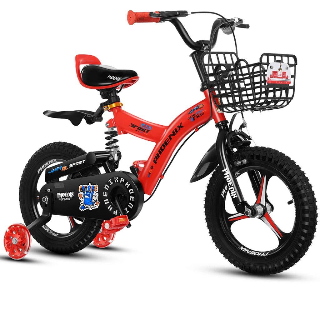 子供用自転車、3-8歳の男の子用自転車、ディスクブレーキ (Color : Red, Size : 12 inch)   B07CZJF5FR