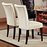Steve Silver Portifino Parsons Dining Chairs – Beige Microfiber – Set of 2 Review