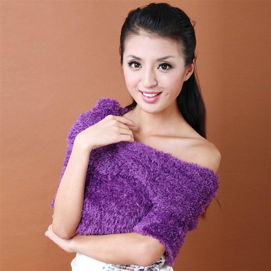 Deep Purple CADANIA Sciarpa Snood Magica Sciarpe Sciarpa Multifunzionale Outdoor Head Wear Ladies