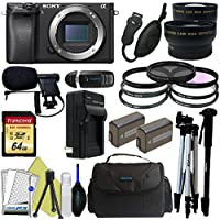 Sony Alpha a6300 Mirrorless Digital Camera (Body Only) + Pixi-Pro Accessory Bundle - International Version Review Review Image