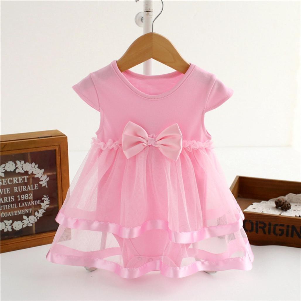 Remoción bestoppen bebé niñas vestido de princesa de, diseño de sin mangas floral Bownot Swing Mini vestidos VESTIDO DE FIESTA para niña a-Line vestido de ...