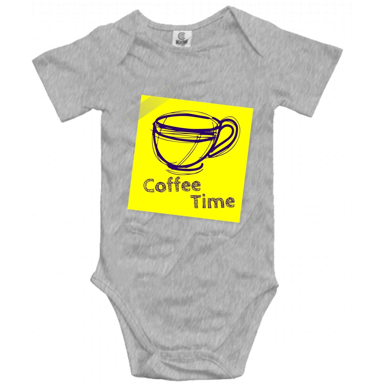 Enjoy Coffee Time Unisex-Baby Summer Bodysuits Short Sleeve Comfy Bodysuit