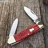 "Boker Magnum GStore 3 6/8"" Red Bone 2 Blade CANOE Pocket Knife LIMITED"