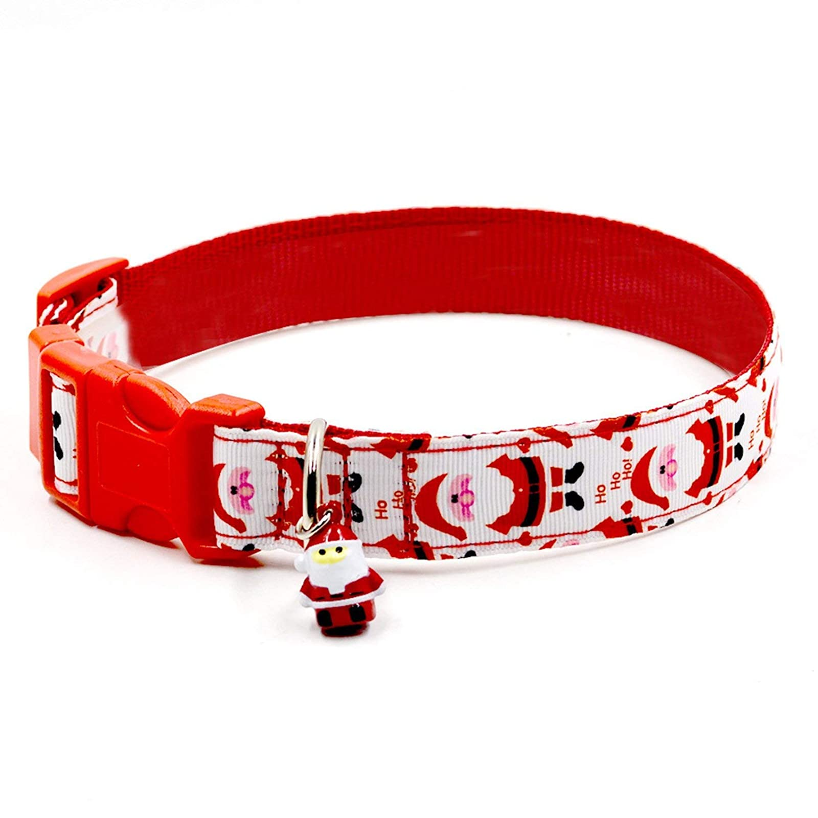 RYPET Christmas Dog Collar and Leash - Santa - 3