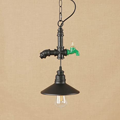 E27 Vintage tubo de agua luces colgantes industrial retro Tap luces de techo dormitorio sala de