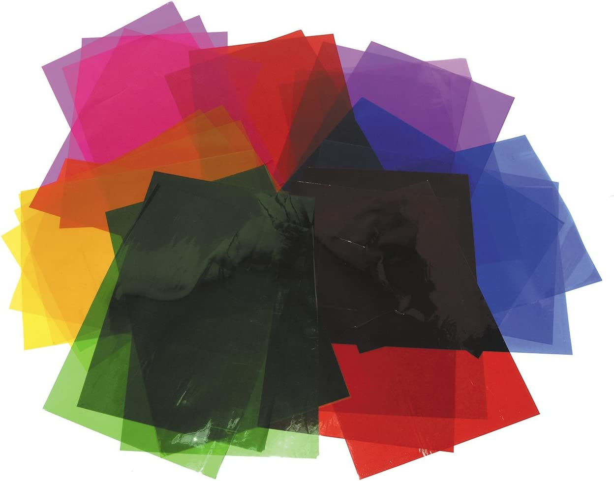 CI Clear Wrap//Cellophane Sheets for Art Assorted Colours... Craft and Wrapping