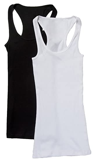 6d2be705d2d6dc 2 Pack Zenana Women s Ribbed Tank Tops at Amazon Women s Clothing store