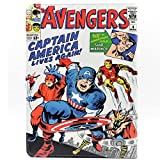 TPACC Cartoon Comic Superhero Alliance Pattern Leather Stand Case Cover Slim Book Shell Stand Case Cover for Apple iPad Air 2