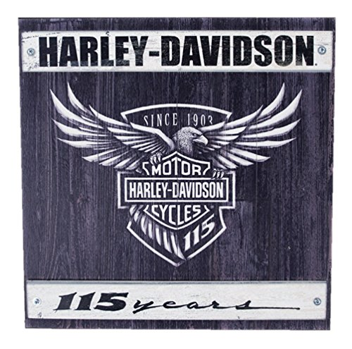 Harley-Davidson 115th Anniversary Commemorative Wood Slate Sign W11-115-HARL - Black Slate Welcome Sign