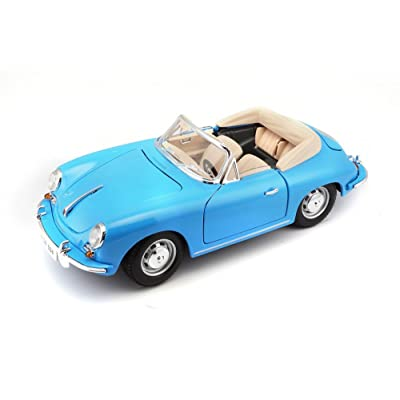 Bburago 1:18 Scale 1961 Porsche 356B Cabriolet Diecast Vehicle (Colors May Vary): Toys & Games