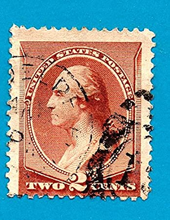 US Postage Stamp 1883 Washington Red Brown 2 Cent Scott 210