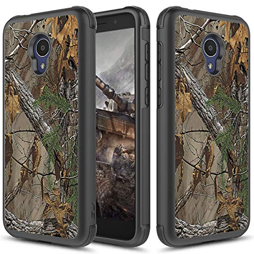 (Alcatel TCL LX A502DL Case, Alcatel IdealXTRA 5059R, 1X Evolve (2018) Phonelicious Hybrid Dual Layer Tough Phone Cover (Camouflage))