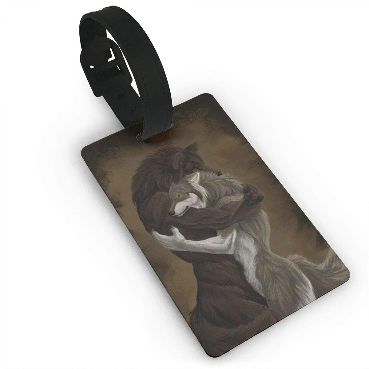 2 Pack Luggage Tags Wolf Travel Tags For Suitcase Bag Accessories